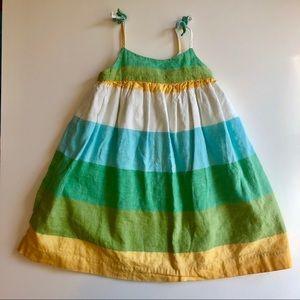 Linen Baby Gap Midi Striped Sundress 12-18Mos